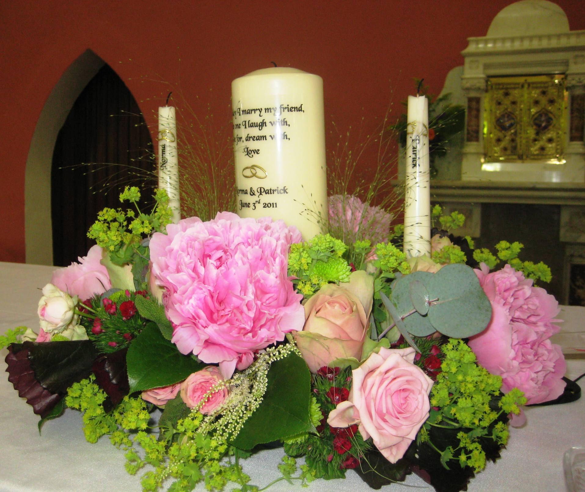 Wedding Altar Pieces: The Secret Garden Centre Plants Animals Location Cork